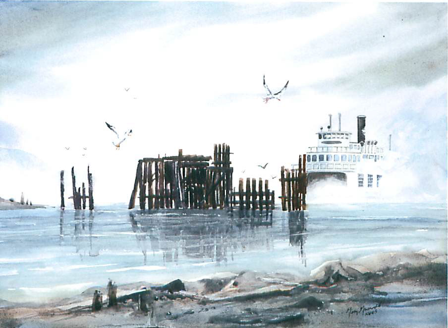 Ghost Ferry by Gary Griswold, Port Ludlow Artists league